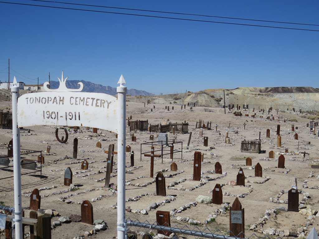 Tonopah Cemetary, the historic miner's cemetery in Death Valley