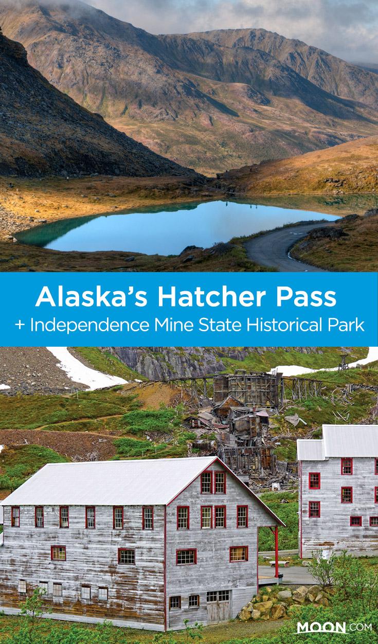 pinterest graphic depicting Hatcher Pass in Alaska