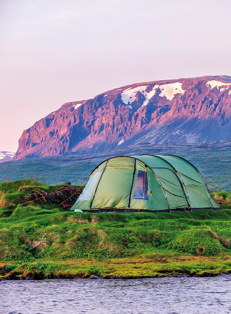 Campsite in Thingvellir National Park.