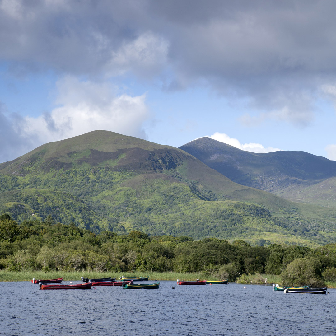 boats on lower lake in Killarney National Park