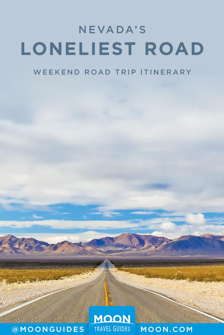 Loneliest Road Trip Pinterest graphic