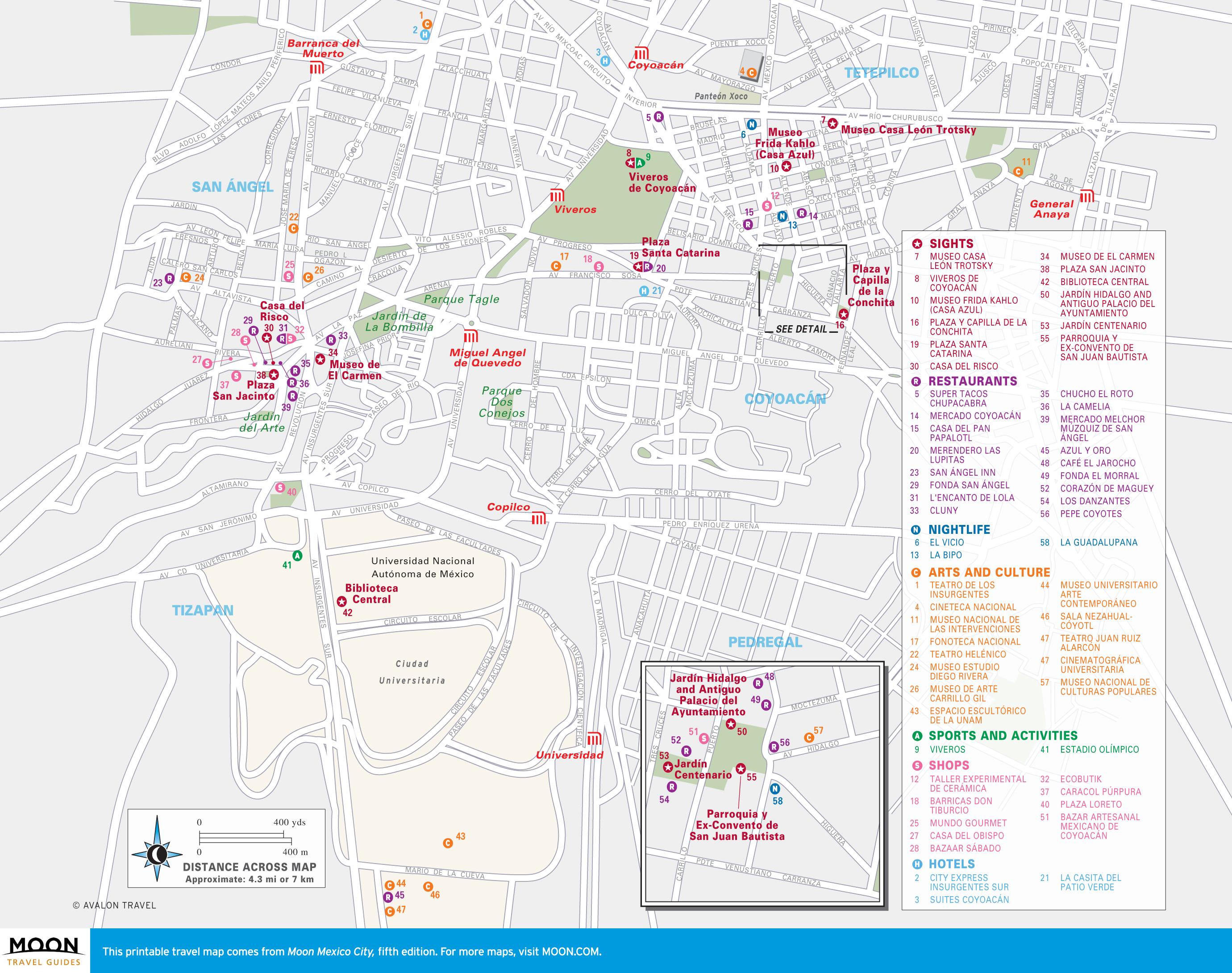 image regarding Printable Maps of Mexico called Mexico Metropolis Moon Drive Textbooks