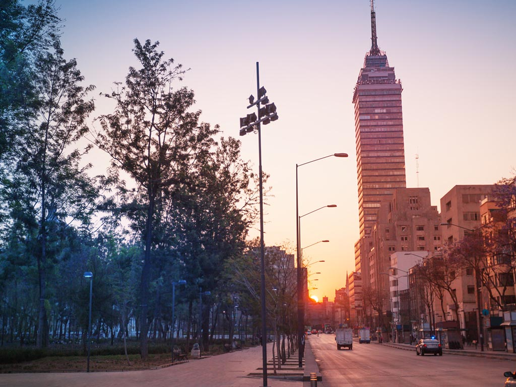 Juarez Avenue in Mexico City