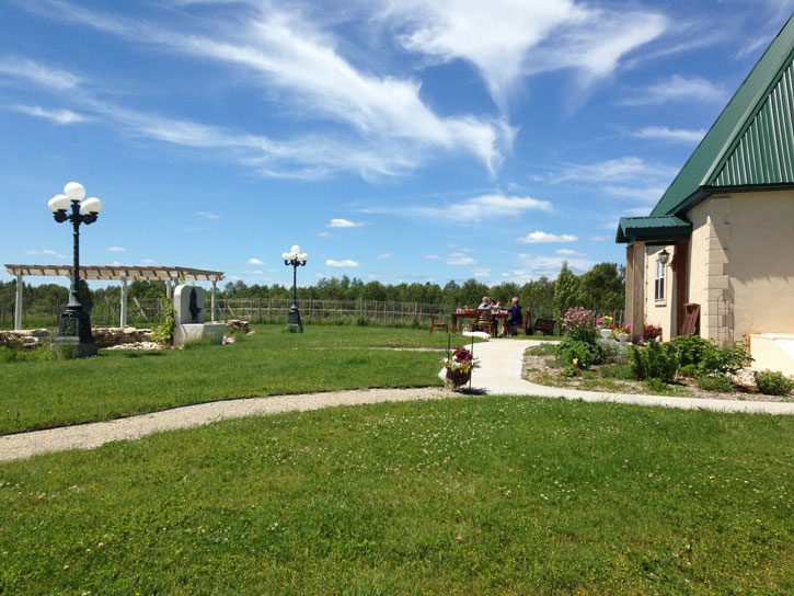 Outdoor seating at Northern Sun Winery on Michigan's Upper Peninsula.