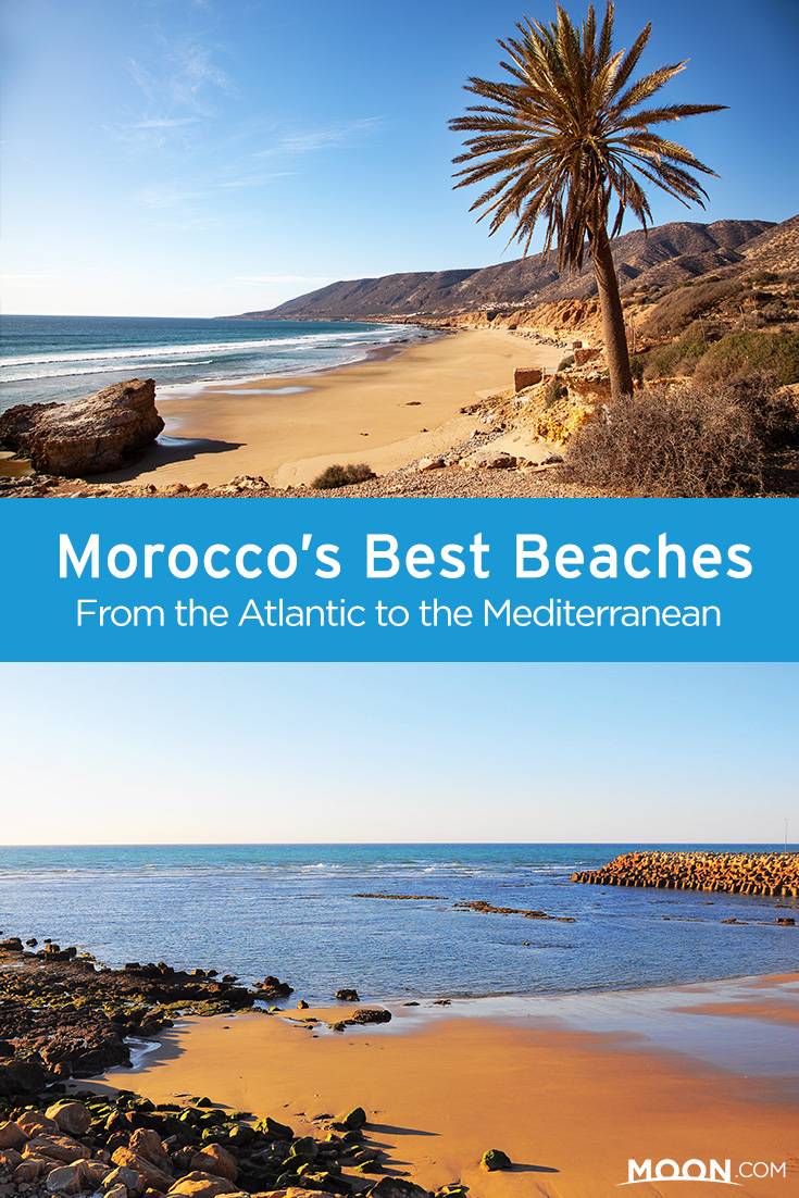 Morocco beaches pinterest graphic