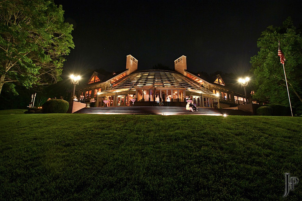 back view of Fontanel Mansion where live music is hosted in the summer
