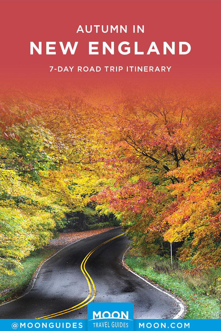 New England Fall Foliage Road Trip Pinterest graphic