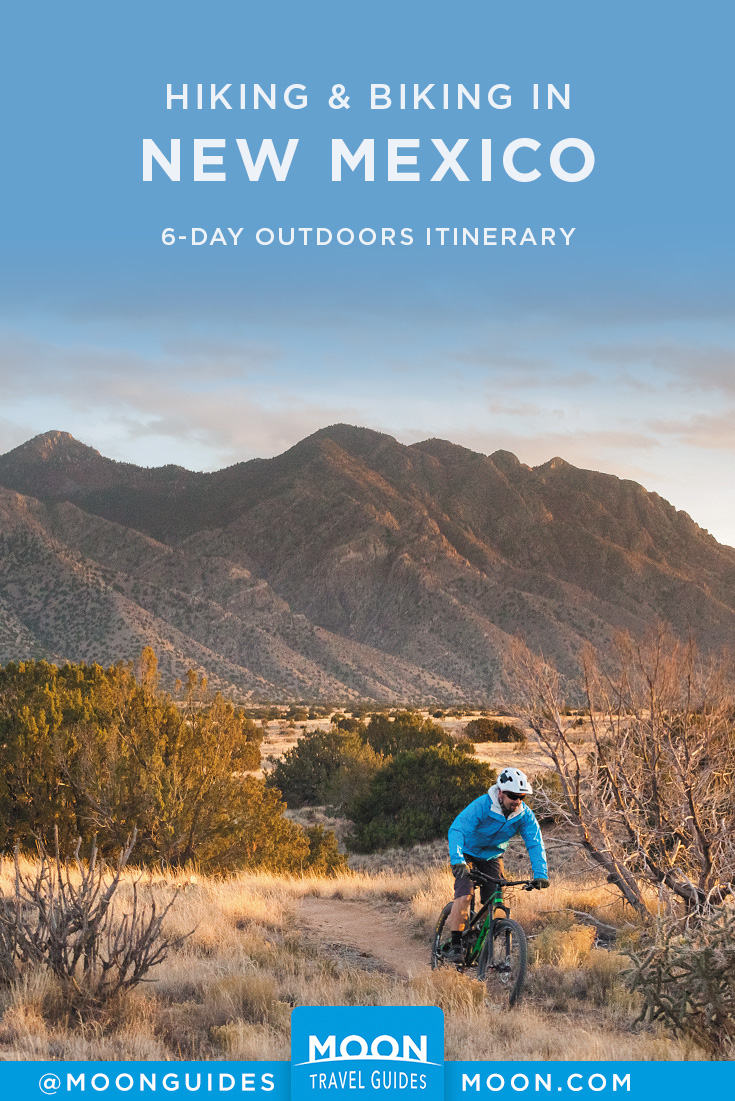 New Mexico Outdoors Itinerary Pinterest graphic