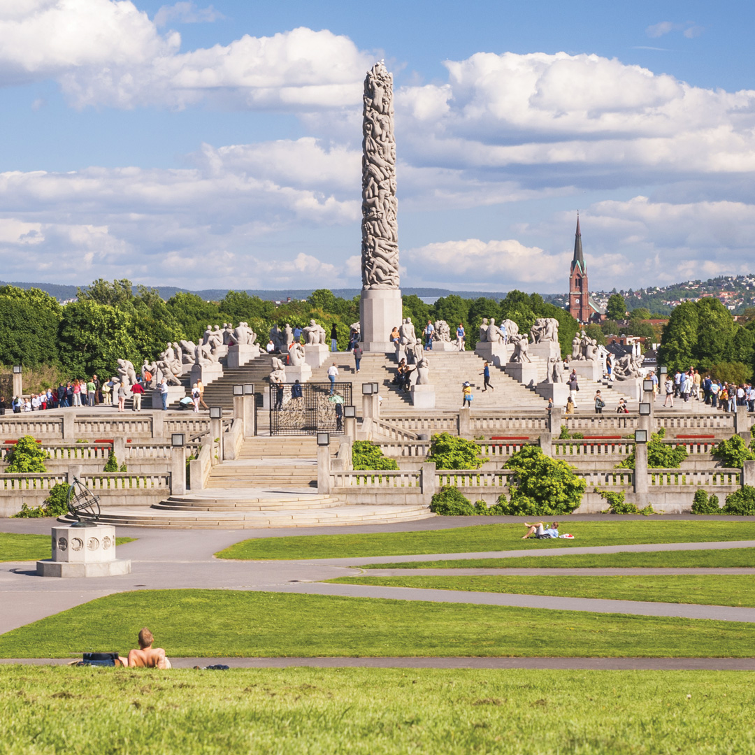 Monolith at Vigeland Sculpture Park in Oslo