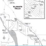 Map of Klamath Falls, Oregon