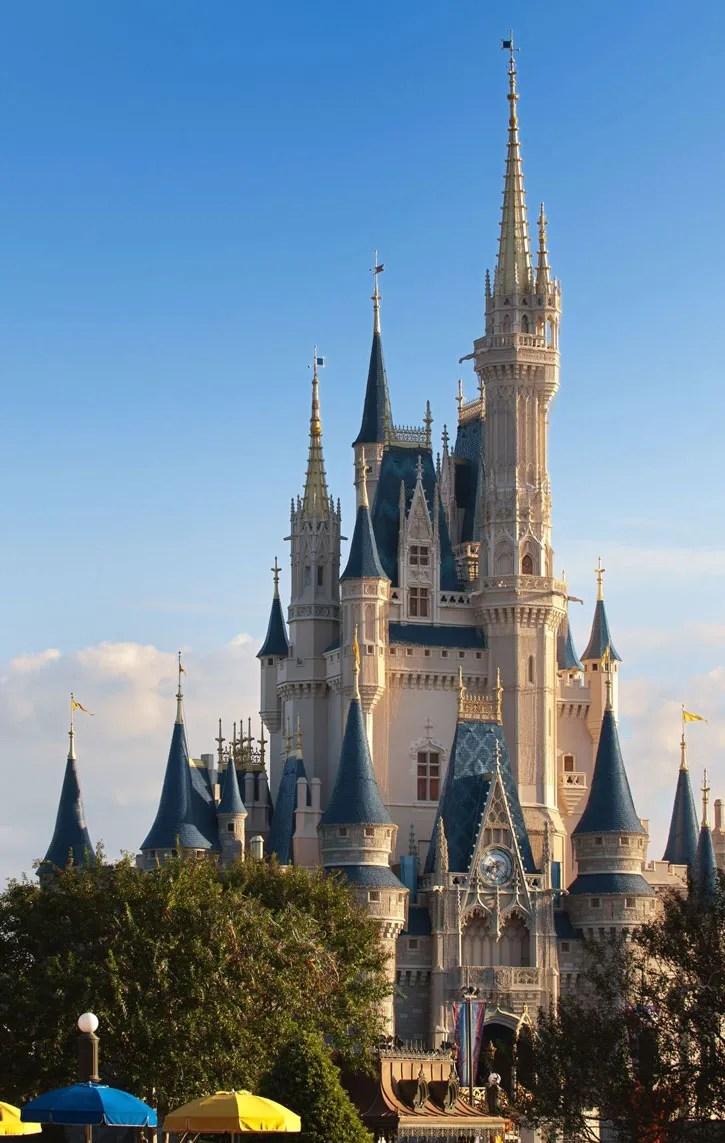 Magic Kingdom castle at Walt Disney World, Orlando, Florida.