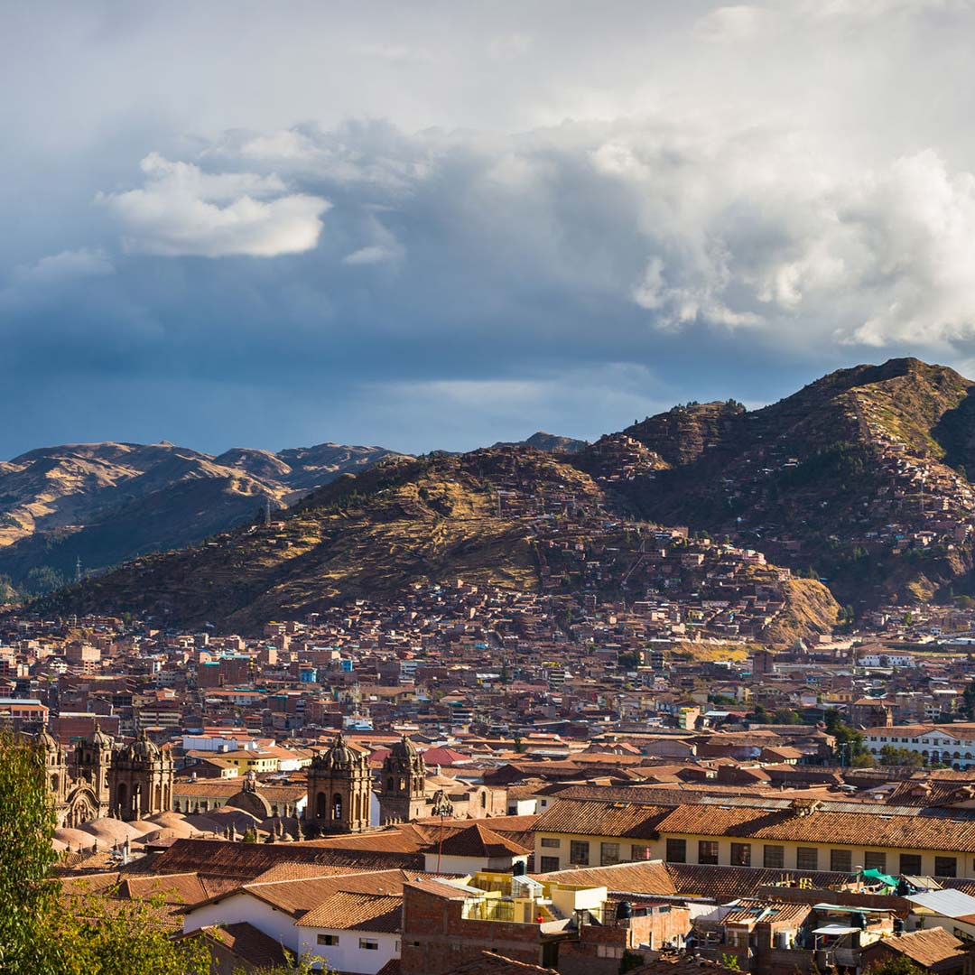 Storm clouds gather over Cusco