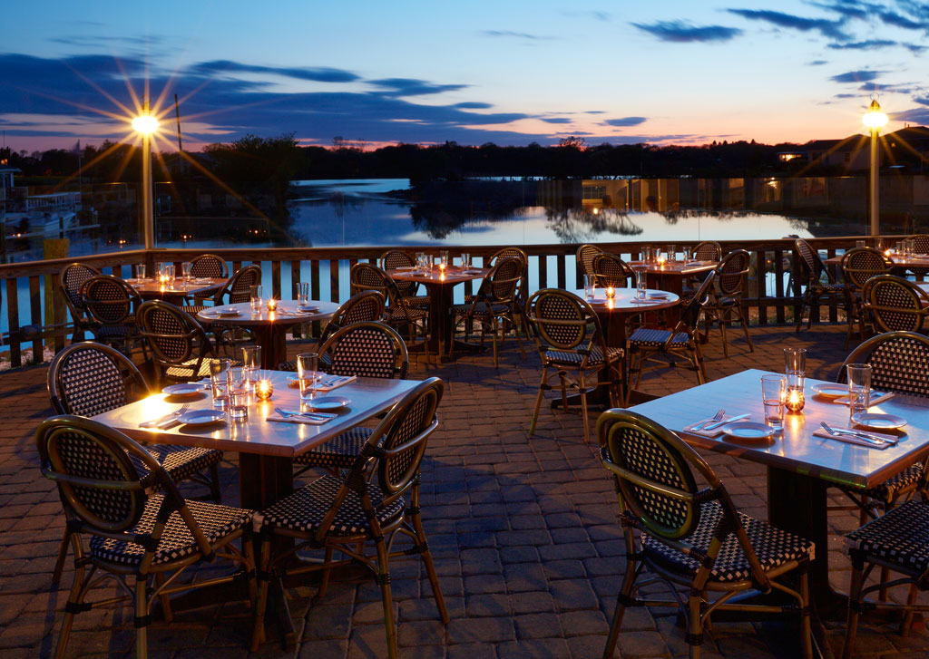 Enjoy stuffies with a view at Matunuck Oyster Bar in South Kingstown, RI.