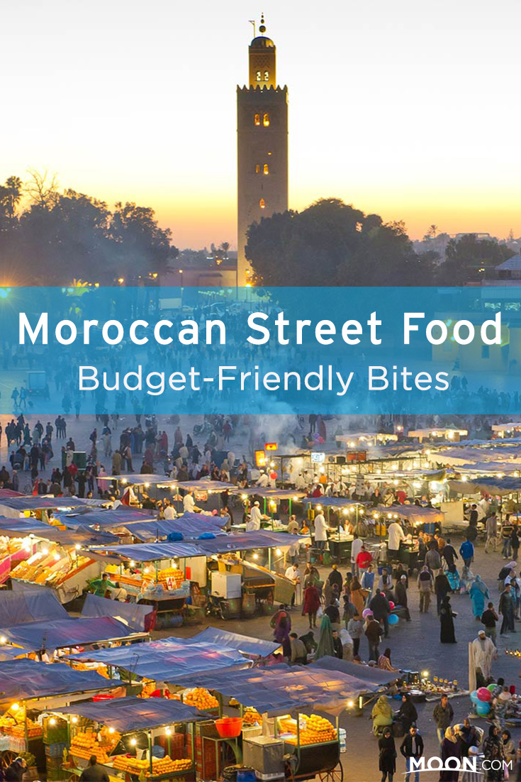 Moroccan street food pinterest graphic