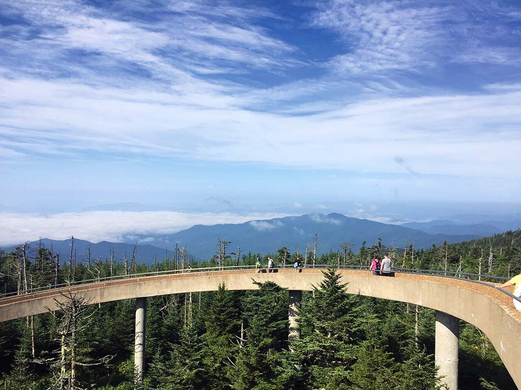 The ramp to the viewing platform on Clingmans Dome