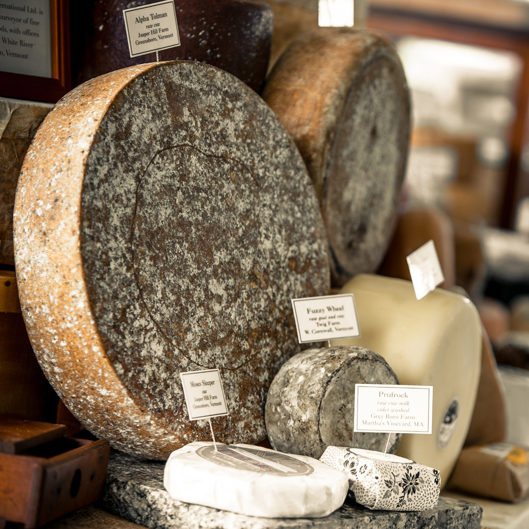wheels of cheese at the Vermont Cheesemakers Festival