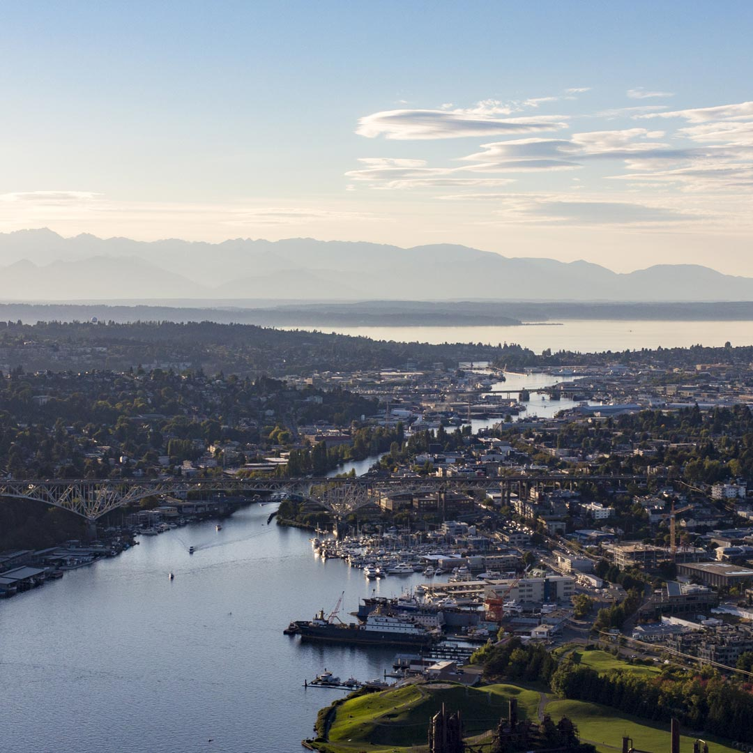aerial view of the Ballard Locks