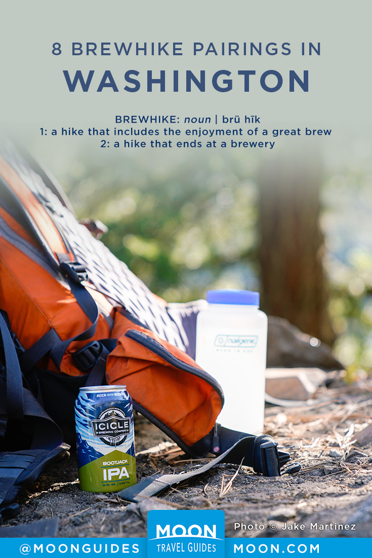 Washington Brewery Hikes Pinterest graphic