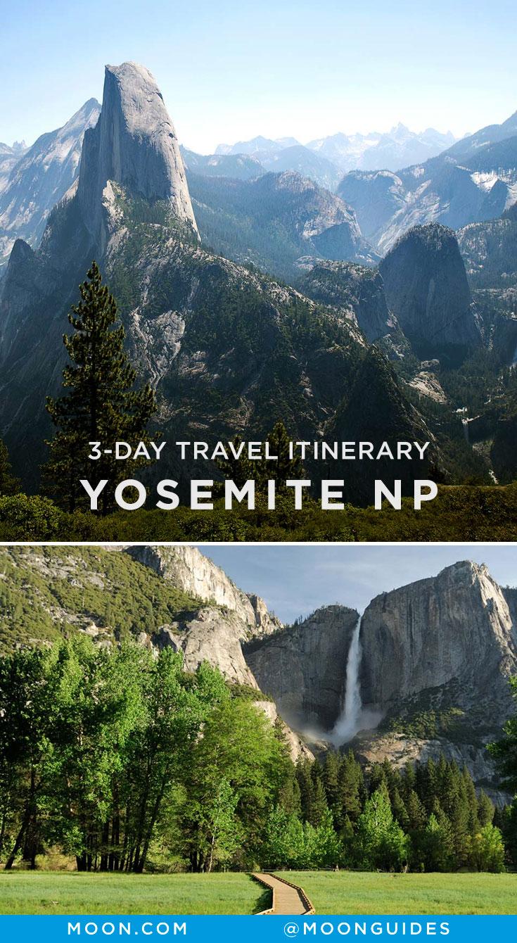 Yosemite in 3 Days Pinterest graphic