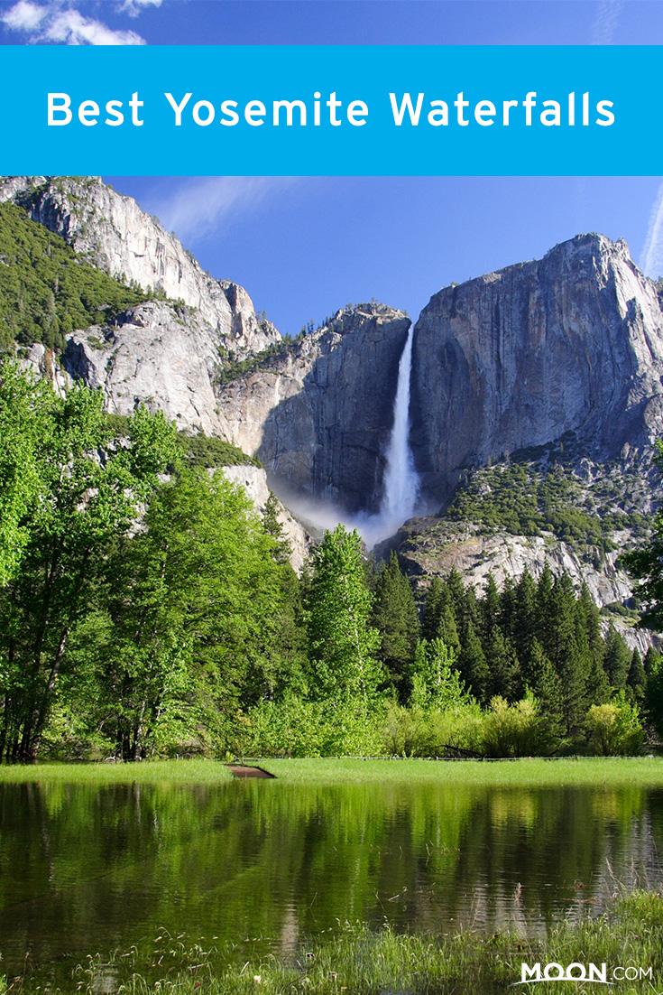 Yosemite waterfalls Pinterest graphic