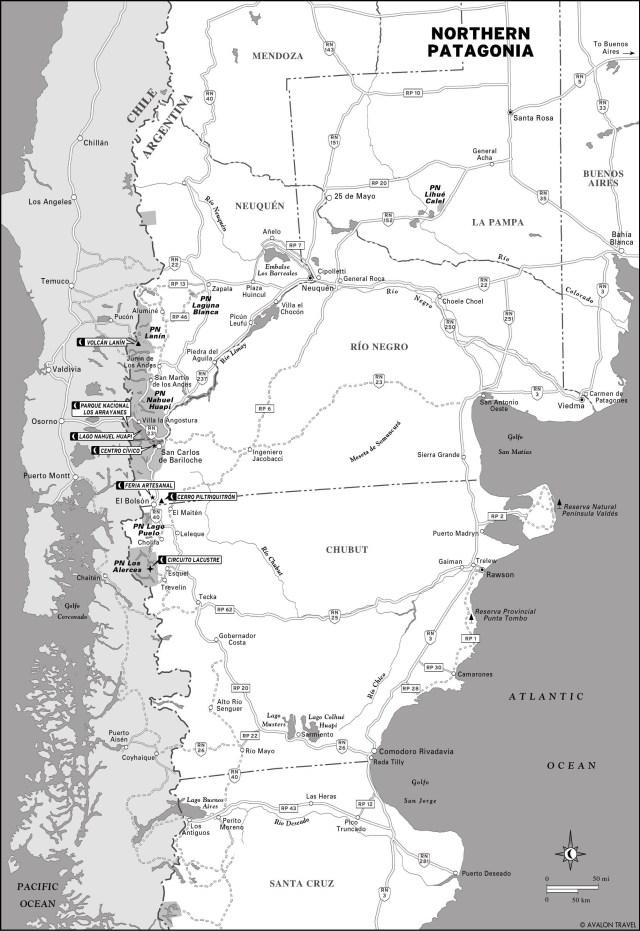 Map of Northern Patagonia