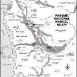 Map of Parque Nacional Nahuel Huapi, Argentina