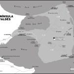 Map of Península Valdés, Argentina