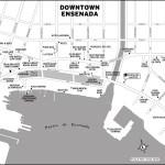 Map of Downtown Ensenada, Mexico
