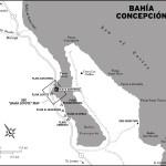 Map of Bahia Concepcion, Mexico