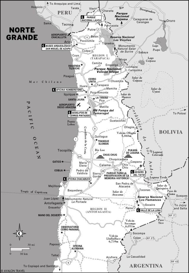 Map of Norte Grande, Chile