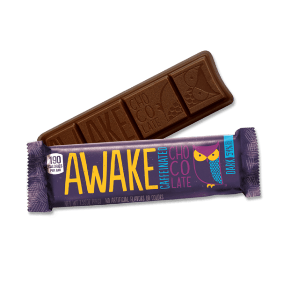 chocolate bar and purple wrapper