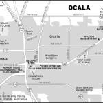 Map of Ocala, Florida