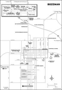 Map of Bozeman, Montana