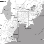 Map of central Panama City, Panama
