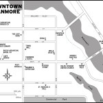 Map of downtown Canmore, AB