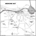 Map of Medicine Hat, AB