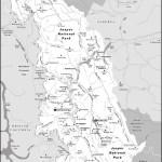 Map of Jasper National Park, AB