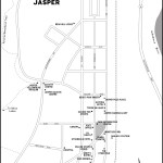 Map of the town of Jasper, AB