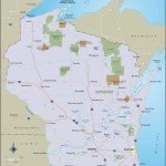 Color travel map of Wisconsin