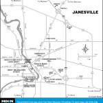 Map of Janesville, Wisconsin