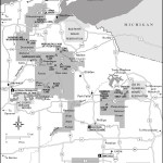 Map of Chequamegon Nicolet National Forest, Wisconsin
