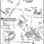Map of Hayward-Cable, Wisconsin