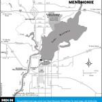 Map of Menomonie, Wisconsin