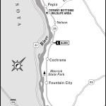 Map of North of La Crosse, Wisconsin