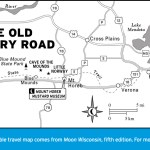 Map of The Old Military Road, Wisconsin