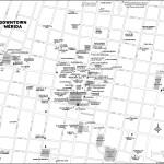 Map of downtown Mérida, Mexico