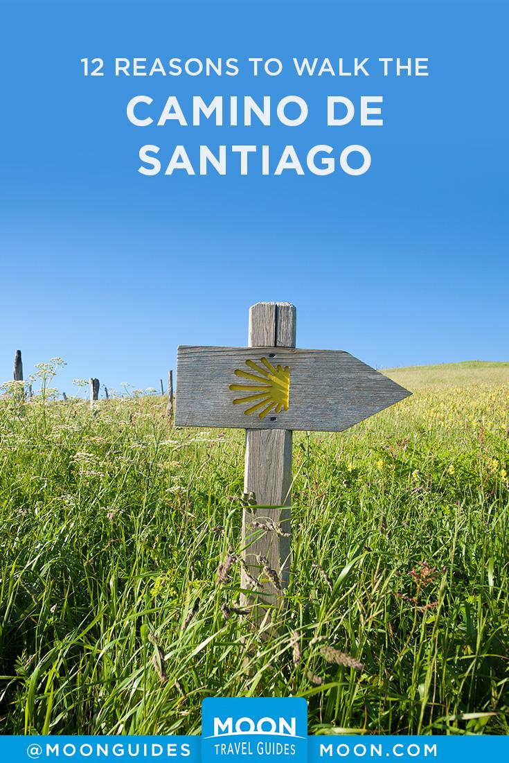 Reasons to walk the Camino pinterest graphic