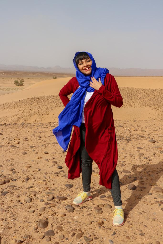 Ambreen Tariq in Morocco desert