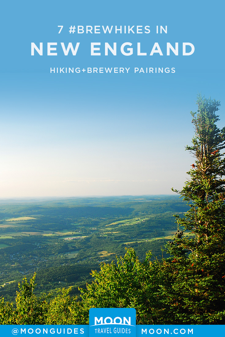 new england breweries and hikes pinterest graphic