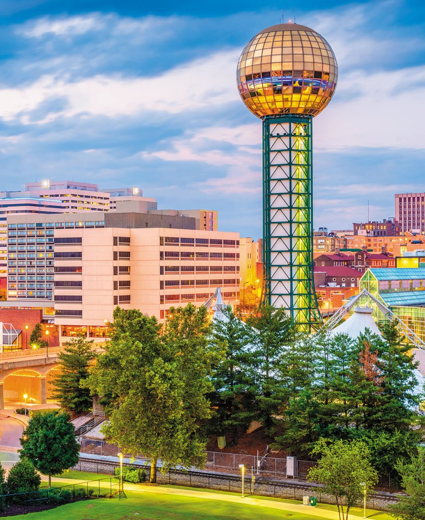 view of Knoxville skyline